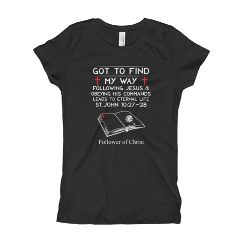 Black The Next Level 3710 Girl's T-Shirt | Got To Find My Way