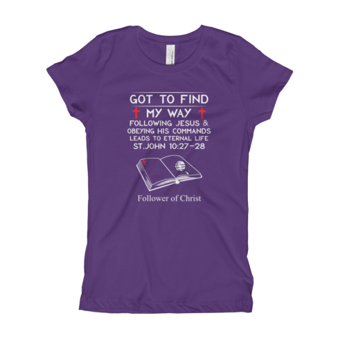 Purple rush The Next Level 3710 Girl's T-Shirt | Got To Find My Way