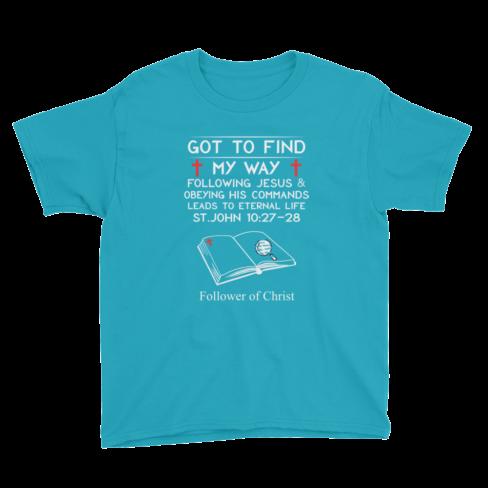 Caribbean blue Anvil 990B Youth Lightweight Fashion T-Shirt