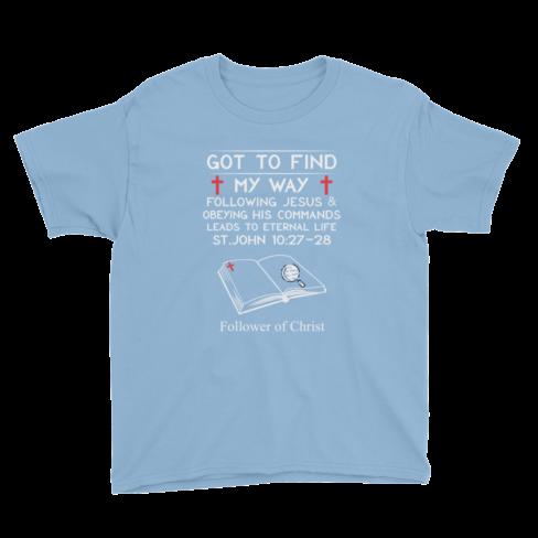 Light blue Anvil 990B Youth Lightweight Fashion T-Shirt
