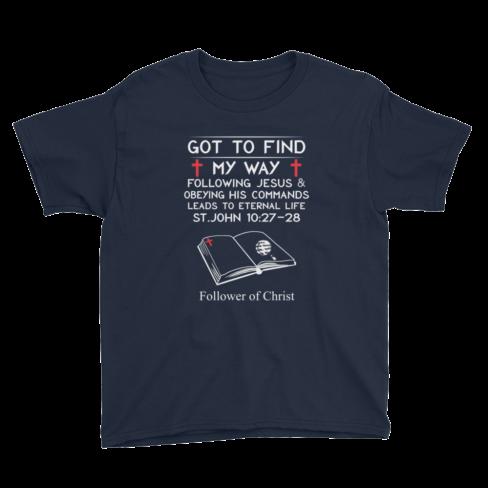 Navy Anvil 990B Youth Lightweight Fashion T-Shirt