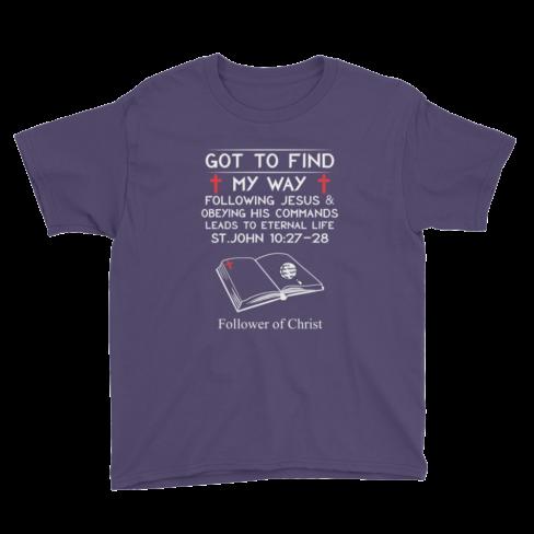 Purple Anvil 990B Youth Lightweight Fashion T-Shirt