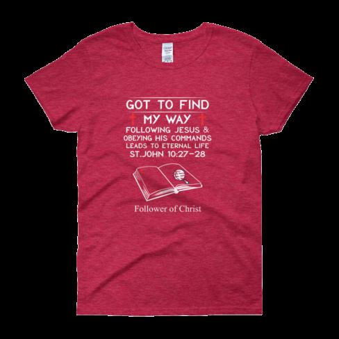 Antique cherry red Guildan 5000L Women's Short Sleeve T-Shirt