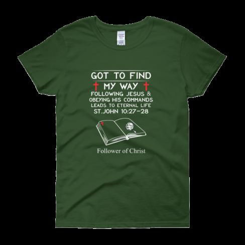Forest-Green Guildan 5000L Women's Short Sleeve T-Shirt
