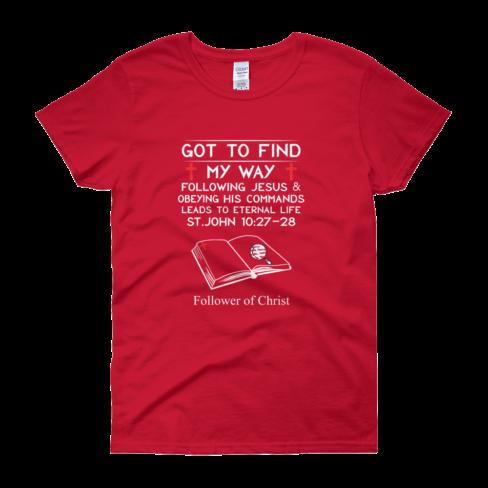 Red Guildan 5000L Women's Short Sleeve T-Shirt
