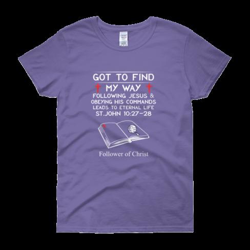 Violet Guildan 5000L Women's Short Sleeve T-Shirt